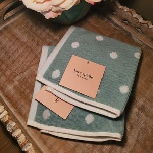 NWT Kate Spade Polkadot Wash Cloth Set